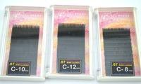 wholesale natural eyelashes 0.07 utimate luxury MINK lashes C curling 3 size pink  PVC boxes 12 lines  false eyelashes set