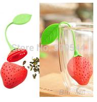 3pcs/lot Silicone Strawberry Design Loose Tea Leaf Strainer Herbal Spice Infuser Filter Tools