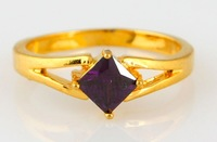 2014 Italina Rigant Luxury 18K Rose Gold Plated Ring AAA Zircon Ring for women