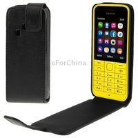 High Quality Vertical Flip Leather Case for Nokia 220 Black