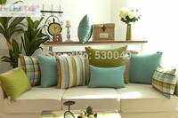 Free shipping Four Desings High-quality the Mediterranean Plaid sofa cushion cover O028