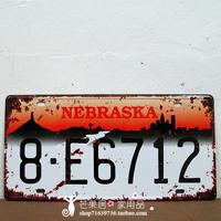 Retro NEBRASKA License Plate Tin Sign Metal Poster Wall Decoration BAR CLUB HOME Painting
