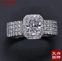 Aidan,  sona diamond ring female simulation diamond 925 silver high simulation diamond engagement ring 18K gold plated wedding