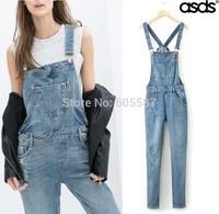Retail 2014 New Summer Hole Fashion Women Denim Jumpsuit 13167