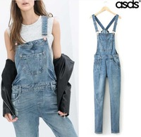 Retail 2014 New Summer Hole Fashion Women Denim Jumpsuit 13167