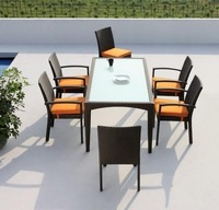 2014 7-Piece Outdoor Furniture Square Patio Garden Dining Set