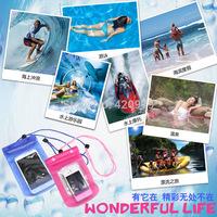 Digital camera mobile waterproof bag phone as watertight bag camping for surfing swimming as water sport drifting accessory.