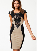 DR1806 fashion new Sexy Women Lace Short Sleeve Slim Fashion Cocktail Dress