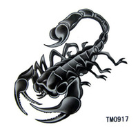 Cool men New instant body tattoo waterproof temporary tattoo sticker scorpion paint printed long last 5-7days, 3pcs/pack TM0917