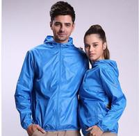 Ultra-thin waterproof UV transparent skin windbreaker jacket men