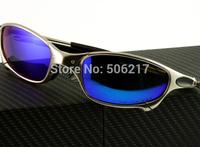 hotsale Brand name mens juliet sunglasses men silver frame ice iridium polarized X-metal frame 04-114A new in original cases