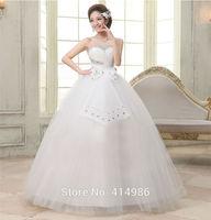 HOT Free shipping white princess fashionable wedding dress 2014 new romantic tulle wedding dresses HS080