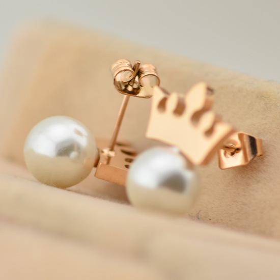 Rose Earrings Etsy Earring Rose Gold Titanium