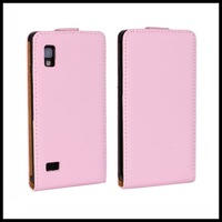 Genuine Flip Leather Case For LG Optimus L9 II 2 D605 Magnetic Closure Pouch Cover 50 pcs/lot
