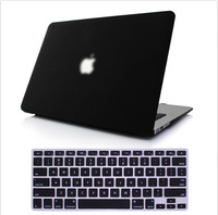 New 2014 Matte Solid Hard Crystal Cases + Free Membrane Keyboard Cover For Macbook Air 11 13 Pro 13 15 Pro 13 15 Retina Shell