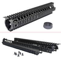 "For Airsoft AR15 M16 Aluminum Quad Rail Carbine Rifle Free Floating Delta Ring 12""  9""  7"" Handguard  W/ QD Swivel Housing"