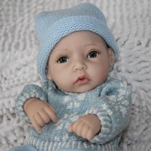 """12 """" de vinil de silicone completa bonecas reborn bebê mini- menino sorrindo brinquedos(China (Mainland))"""