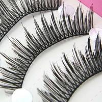 New 10 Pair Handmade individual False Eyelashes Fashion Crisscross Lash palstic cotton stalk  Eyelashes makeup for eyes HS-25#