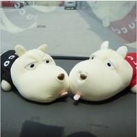 New Hot selling Cartoon Dog Bamboo Charcoal Auto Car Deodorant Purify Air Freshener Decor Doll