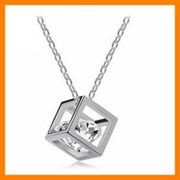 Free Shipping Box Cubic Zirconia Necklace - Stereo Lover