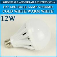 5PCS LED bulb lamp High brightness bulbs led lights E27 12W 5730SMD Cold white/warm white AC220V 230V 240V Free shipping
