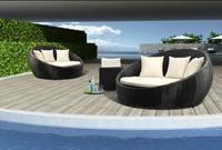 2014 garden feeling outdoor furniture wicker swiming pool round bed