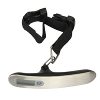 New 50kg Digital LCD Electronic Portable Hanging Luggage Weight Scale With Strap Silver