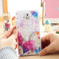 2014 New Style Hot Ultra-Thin Painted Relief 3D  Color Print Cover Case For Samsung Galaxy Note 3 Note3 III N9000 PT2002