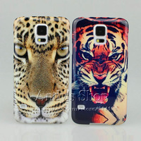 Soft Rubber TPU Case Lifelike Horrible Tiger and Leopard for Samsung Galaxy S5 i9600,Free Screen Protector,Drop Shipping
