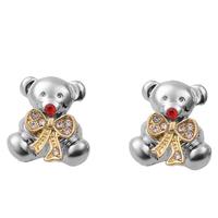 Fashion Cute Bear Stud Earrings For Girls