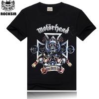 Free Shipping ROCKSIR heavy Metal Motorhead T-shirt Free Dom Hiphop T-shirt tops & tees