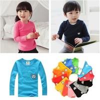 NY008 2014 spring candy bear child baby male child girls clothing basic shirt long-sleeve T-shirt 9-b