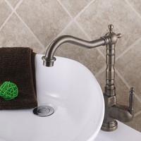 2014 New Design Single Handle Antique Brass Finish Kitchen Sink Basin Faucet Mixer Tap Swivel Spout MK3306CAB