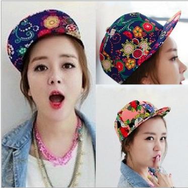 3 styles Hiphop Flower Snapback Hats caps floral hot men womens Adjustable baseball Cap cheap sale Freeshipping(China (Mainland))
