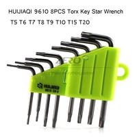 HUIJIAQI 9610 8PCS Torx Key Star Wrench Screwdriver T5 T6 T7 T8 T9 T10 T15 T20 Cell Phone Repair Opening Tool Kit Set
