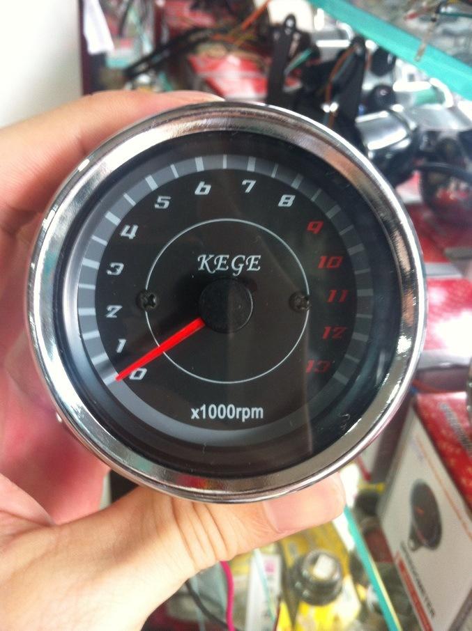 universale tachimetro del motociclo calibro tachimetrica tachimetro nero