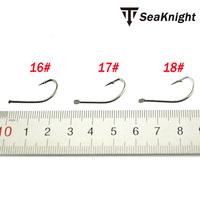 300p Black Barbed Fishhook  Fresh Water Carp Fishing Hooks  High carbon Steel  Fish Hooks  in 10 single box 16# 17# 18#