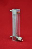LZB -2, glass rotameter flow meter with control valve for liquid and gas. conectrator ,it  can adjust  flow