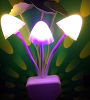 10 pcs Free Shipping Colorful Fantastic Avatar Mushroom Wall LED Night Light  for Good Sleeping for Children  Family\