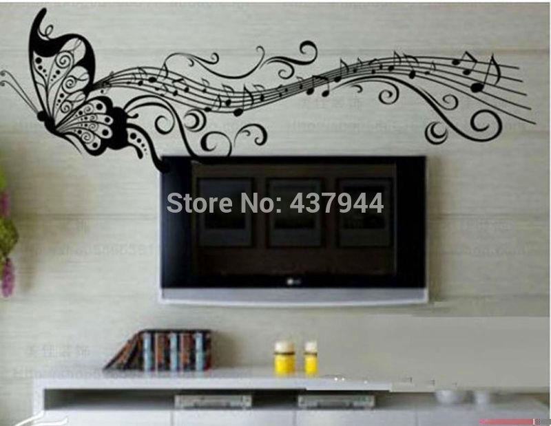 Музыка бабочка стены Термоаппликации стикер домашний
