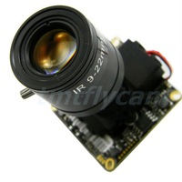 HD 720P 1MP IP Network Board Camera 9-22mm Manual Focus Zoom MTV Lens H.264 30fps HI3518C Android IOS P2P,ONVIF