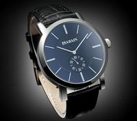 isabain classic fashion steel casual business men sports waterproof  British  leather strap top formal quartz wristwatch