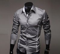 Hot sale New Mens Shirts long sleeve Casual Slim Fit Stylish Mens Dress Shirts Size M L XL XXL XXXL