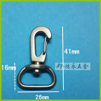 10pcs nickel plated snap hook/dog hook/swivel hook/spring hook manufacturer trigger hook
