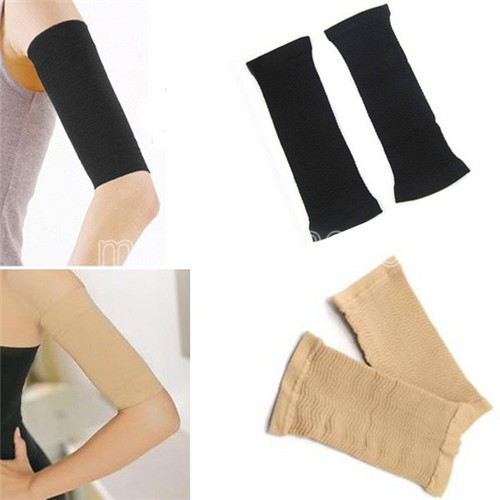 1Pair Black Women Ladies Slimming Weight Loss Arm Shaper Thin Cellulite Fat Burner Wrap Belt For Slim Girls(China (Mainland))