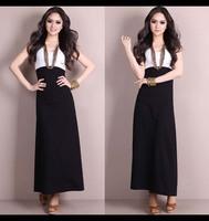 2014 Summer Women Big Size 5XL Sleeveless Tank Dress Vest  Full Dress Elastic Ankle-Length Slim Dress M L XL XXL XXXL 4XL 5XL