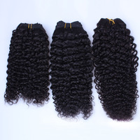 1B# natural black kinky curl 100% unprocessed virgin kinky tight curls Extension 100g 1bundle