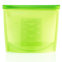 Silicone Fresh Bag with Food Sealed Clips-FDA food grade silicone storage bag-4 colors for option