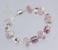 HOT SALE Free Shipping personalised silver beaded bracelets for women bead bracelets patterns bijoux jewelry PA1382
