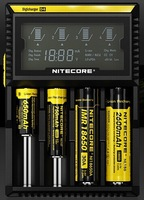 Free Shipping 1pc Nitecore D4 Lcd Battery Charger Fit 18650 16340 26650 10440 AA AAA 14500 Battery Charge